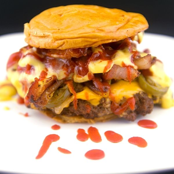 Jalapeno and Onion Crispy Bacon Double Cheese Burger Recipe 4 of 7