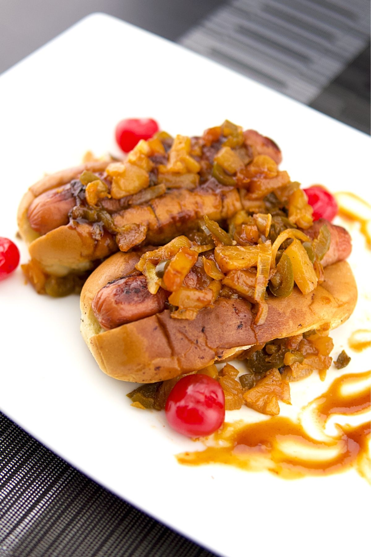 Sweet Pineapple Jalapeno Bacon Wrapped Hot Dogs Recipe 1 of 5