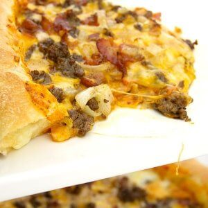 Bacon Cheese Burger Pizza Lover Stuffed Crust 6 of 10