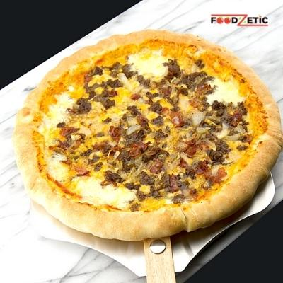 Bacon Cheese Burger Pizza Lover Stuffed Crust 2A