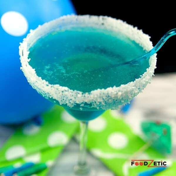 Blue Raspberry Lemonade Margarita Drink 2 of 3