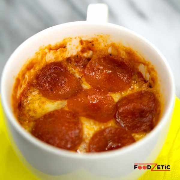 Pepperoni Lover Microwave Pizza In A Mug 2 of 3